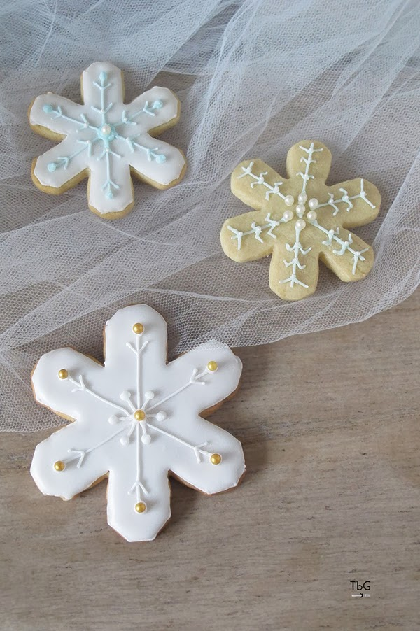 Galletas de navidad decoradas con glasa tutorial for Estrella nieve