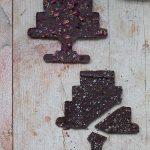 Chocolatinas con escamas de sal y especias.