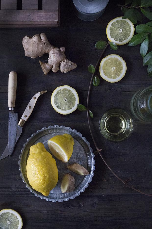 La auténtica bebida detox. Limón y jengibre.